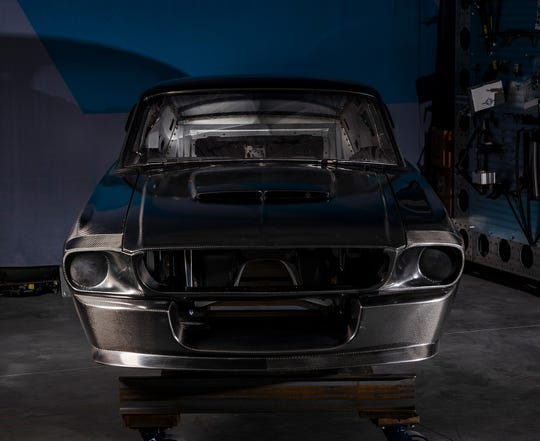 The carbon fiber body of the GT500CR