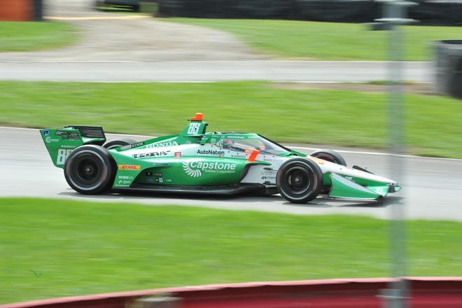 Andretti Autosport's Colton Herta won the second race of the Honda Indy 200 at Mid-Ohio doubleheader on Sunday.