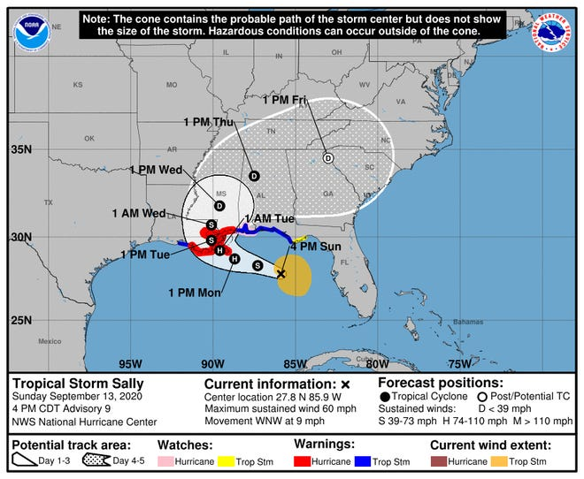 Hurricane sally made a final shift Eastward directly hitting Pensacola, which has not seen a hurricane since 2005's Katrina.