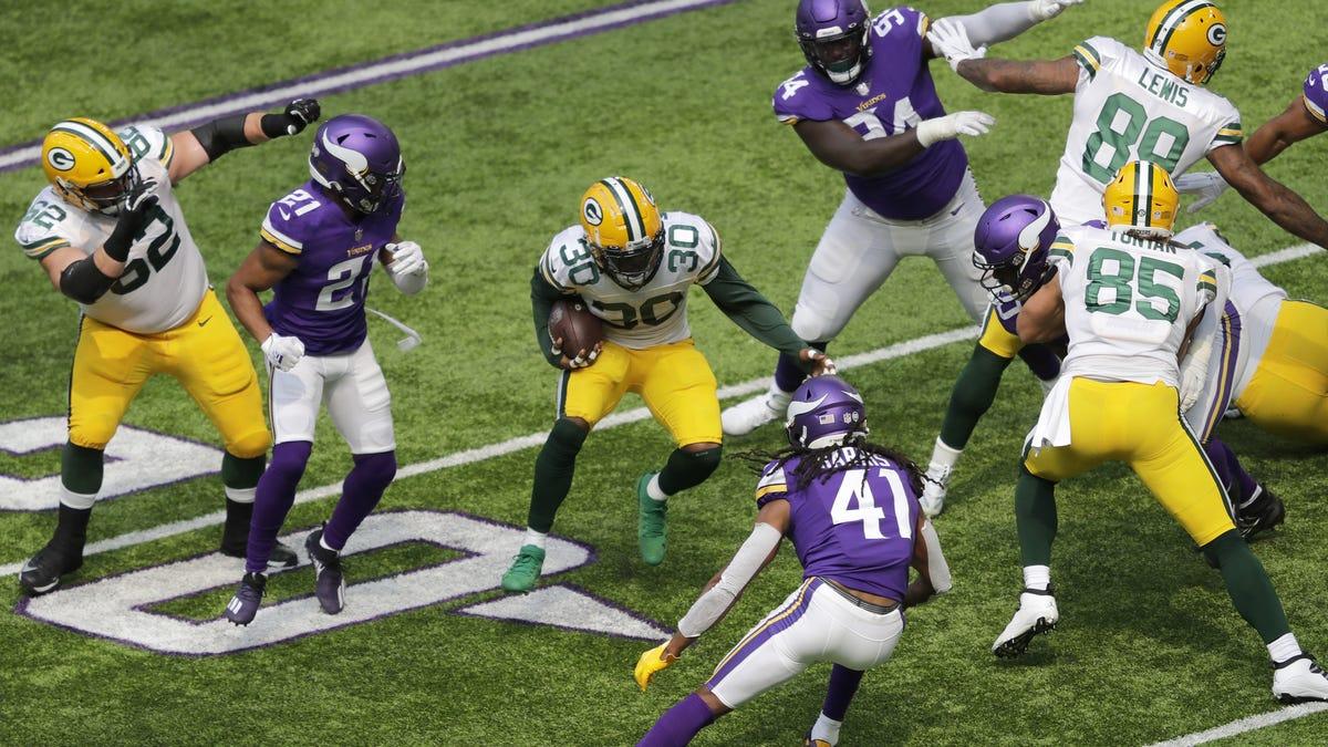 Green Bay Packers At Minnesota Vikings Week 1 Game Photos