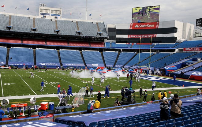 An empty Bills Stadium for the season opener against the New York Jets on Sept. 13, 2020.