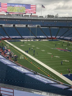The scene at Bills Stadium at 11 a.m. And it's not going to change on this most bizarre of season openers for the Bills.