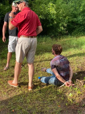 Photos from the scene where Franklin County Sherrif A.J. Smith and several residents apprehended a car thief who fled the scene of a crash Saturday, Sept. 12, 2020.