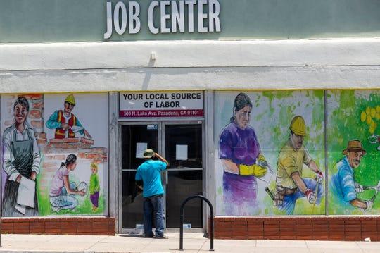 Pasadena Community Job Center on May 7, 2020, in Pasadena, California.