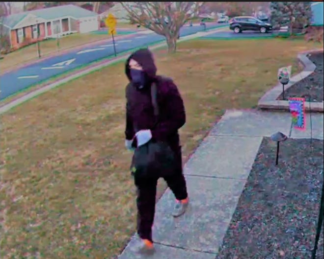 Police said this man was seen stealing from unlocked vehicles in Bucks County.