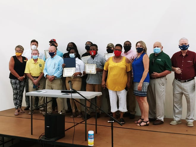 The first group of Career Advancement and Workforce Training Program graduates received their certificates Sept. 1 in Hardeeville.