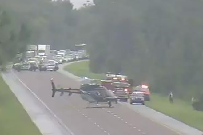 A fatal accident involving a car and truck took place Sunday afternoon on Interstate 95 at mile marker 246 near Edgewater, according to the Florida Highway Patrol.