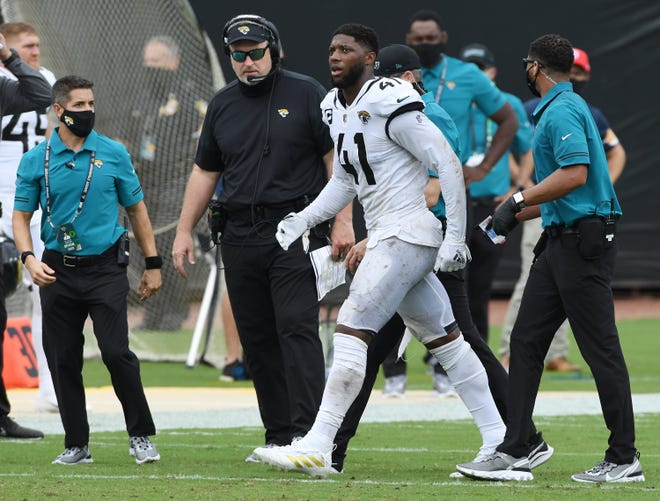 Jaguars coach Doug Marrone said he feels a pit in his stomach from not getting his team on track after four straight loss. Bob Self/Florida Times-Union
