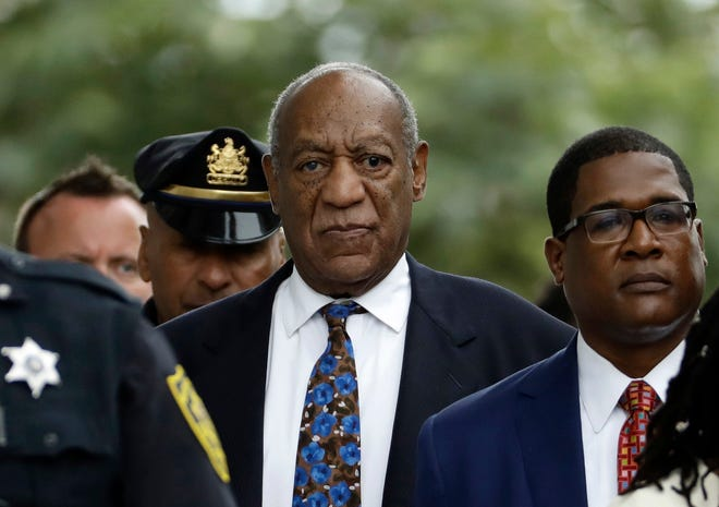 Bill Cosby departs after a September 2018 sentencing hearing at the Montgomery County Courthouse in Norristown, Pa. Legal advocates are lining up on both sides of actor Bill Cosby's appeal as the Pennsylvania Supreme Court prepares to review his 2018 sex assault conviction.
