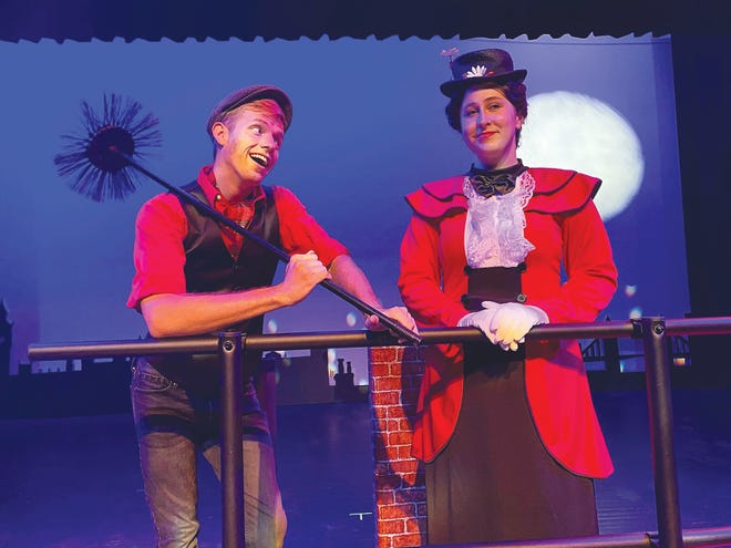 Bert, played by Ben Stewart and Mary Poppins, played by Hannah lee, will don the stage for the big show at the end of September.
