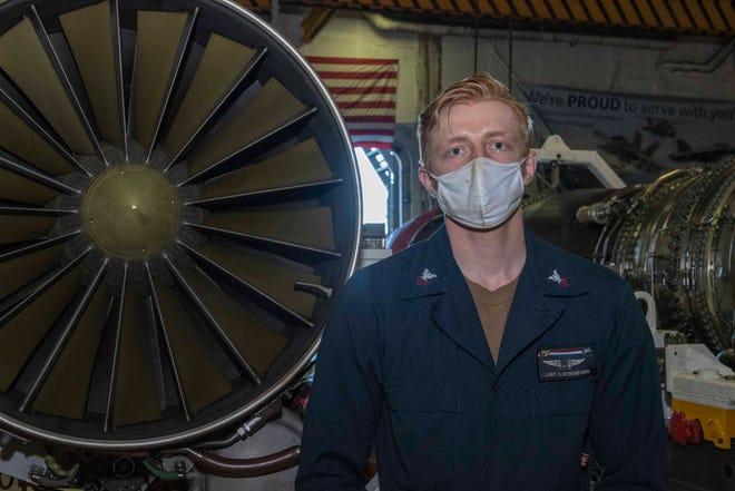 Ravenna native Luke Retherford is serving aboard the USS Ronald Reagan.