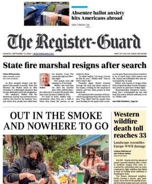 Front of Register-Guard newspaper