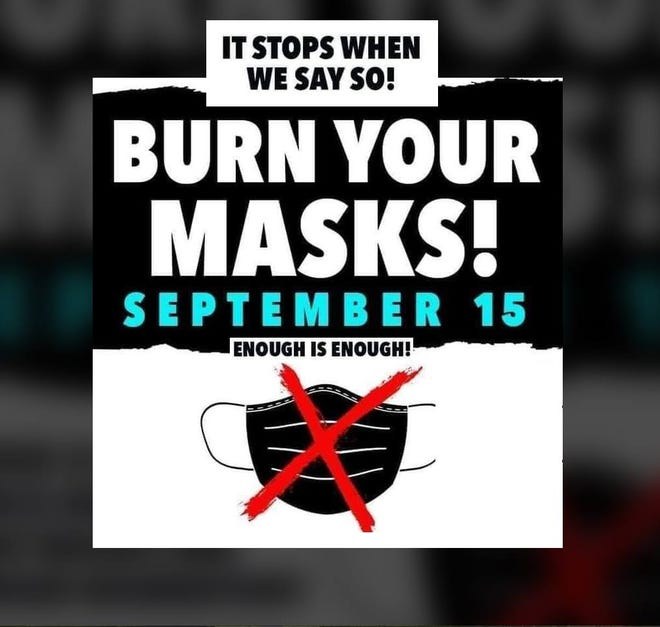"""A small but vocal group of local parents has been circulating a petition to reject the Sarasota County School Board's policy requiring students to wear face masks at school and encouraging a """"Burn Your Masks!"""" day on Sept. 15."""