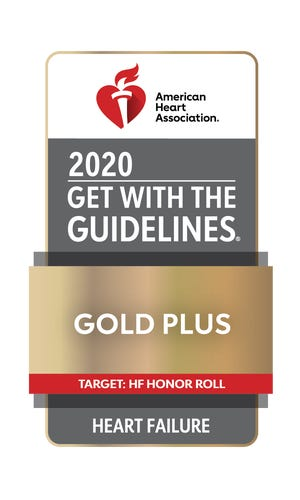 Nanticoke Memorial Hospital received the American Heart Association's Get With The Guidelines-Heart Failure Gold Plus with Honor Roll Quality Achievement Award.