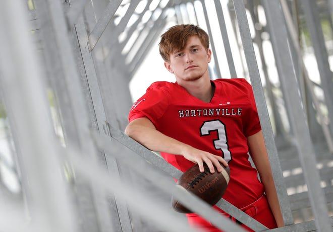 Elite 11 wide receiver Parker Lawrence of Hortonville on Sept. 4 in Hortonville.