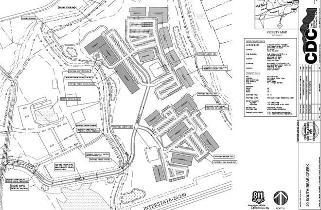 Charlotte-based Catalyst Capital Partners has submitted plans to Buncombe County to build 660 apartments on 55 acres on South Bear Creek Road.