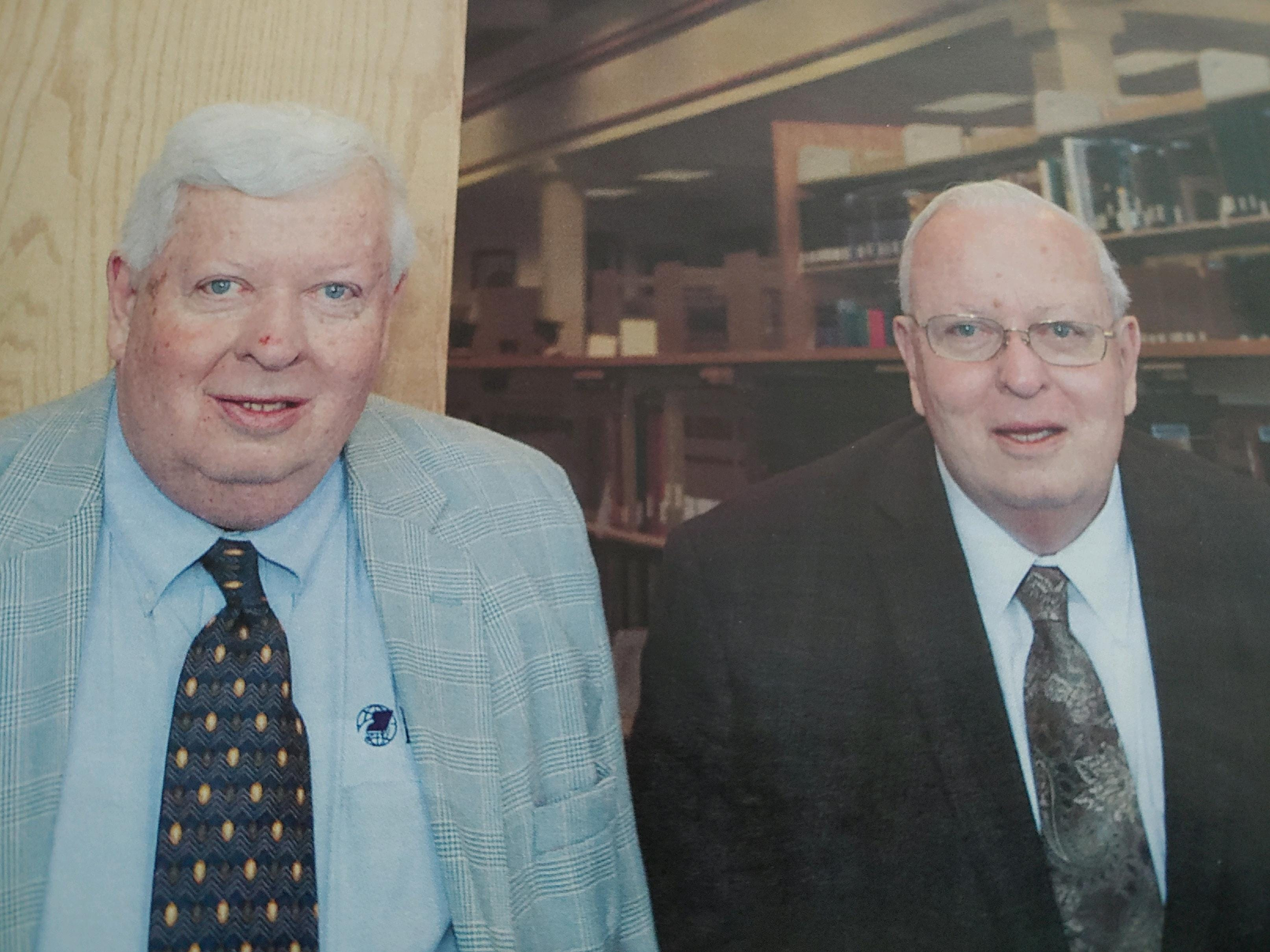 Myron James Houghton (right), 78, died July 14, 2020 due to complications from COVID-19.