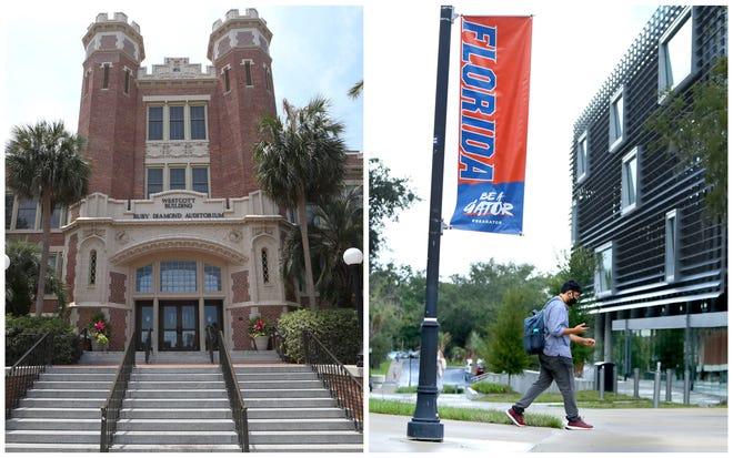 Florida State University and the University of Florida.