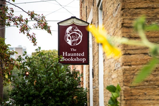 The Haunted Bookshop is seen, Wednesday, Sept. 9, 2020, at 219 N Gilbert Street in Iowa City, Iowa.