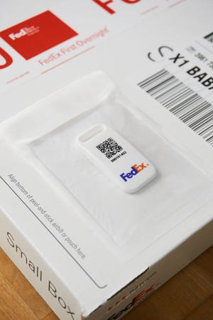 FedEx has launched a sensor-based device the company says will provide real-time tracking updates for future COVID-19 vaccine shipments and other sensitive orders.