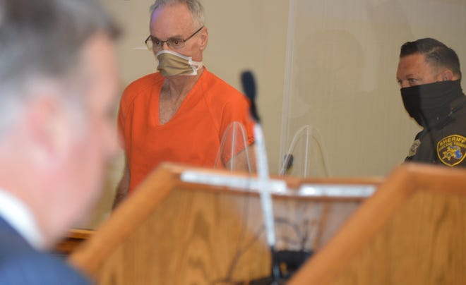 Jeffery Morris enters a Clarkston courtroom on Monday, Sept. 14, 2020, for a preliminary exam.
