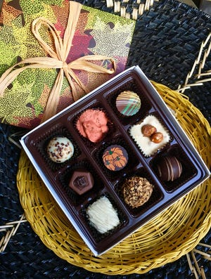 Cowboy Up Chocolates announced the Fall Collection, which includes Pumpkin Pie, Hazelnut, Cappuccino, Coconut Tumbleweed, Gobb-a-Goober Bite, Pumpkin Spice de Leche, Butter Pecan, Tiramisu and Maple Pecan Caramel.