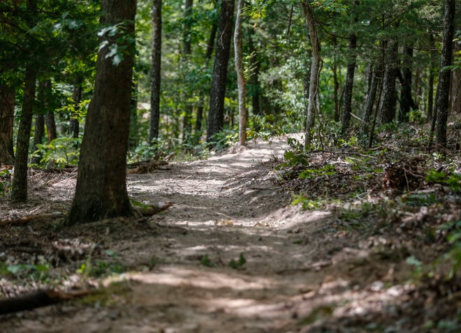 Construction of a new 6.65-mile long mountain biking and walking trail around Fellows Lake, called The Dirt 66 Trail System, is underway as on Monday, Sept. 14, 2020.