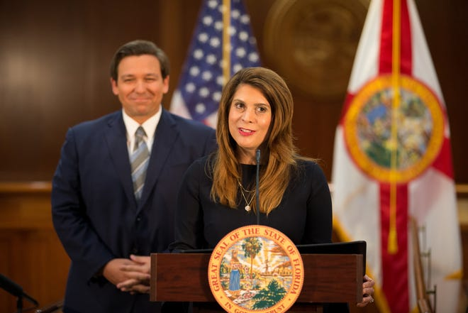Judge Jamie Grosshans speaks after Gov. Ron DeSantis announced her as the new Florida Supreme Court Justice at the Capitol Monday, Sept. 14, 2020.