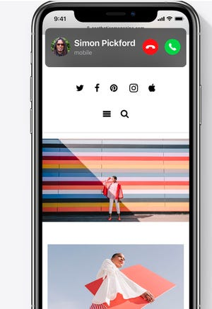 El aspecto compacto de las llamadas en iOS14