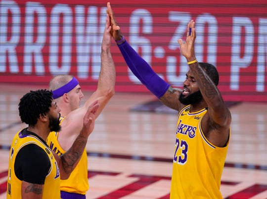 The Lakers will have five full days off between games when the Western Conference finals start.