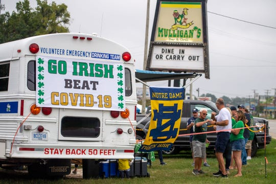 Notre Dame football has several players in isolation or quarantined due to COVID-19.