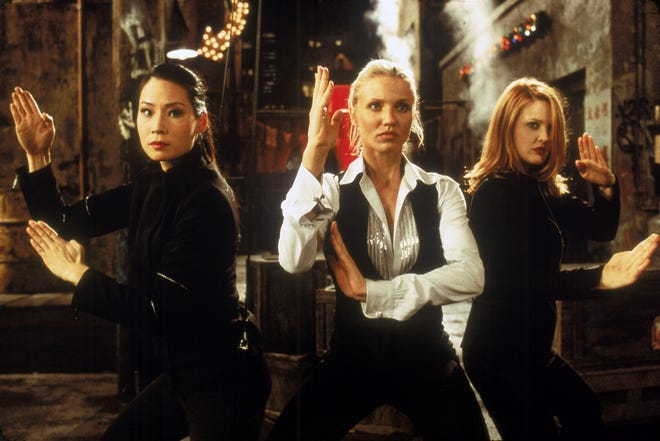 """Lucy Liu, left, Cameron Diaz and Drew Barrymore in a scene from 2000's """"Charlie's Angels."""""""