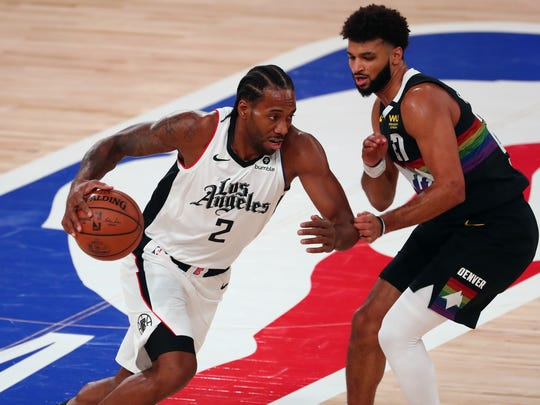 Kawhi Leonard is averaging 29.4 points, 9.6 rebounds and 5.5 assists in 12 playoff games.