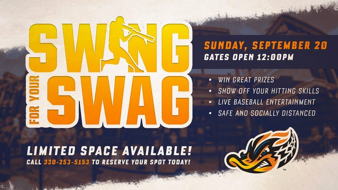 """The Akron RubberDucks will hold """"Swing For Your Swag"""" on Sept. 20."""