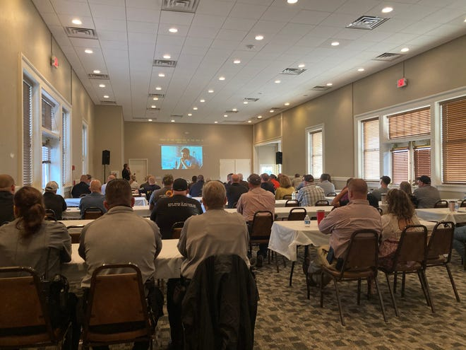 Around 85 law enforcement officers from across Oklahoma attended a training on PTSD and mental health at the Ardmore Train Depot on Tuesday. Close to 200 officers total attended the training between the two days it was held on Sept. 15 and Sept. 16.