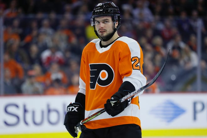 The Flyers' Scott Laughton set a career high with 13 goals and was a career-best plus-13 during the 2019-20 season.