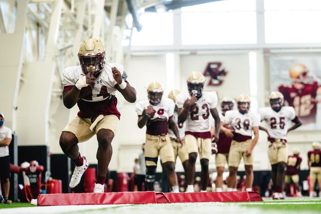 Conwell-Egan grad Patrick Garwo is looking for a bigger role in the Boston College backfield.