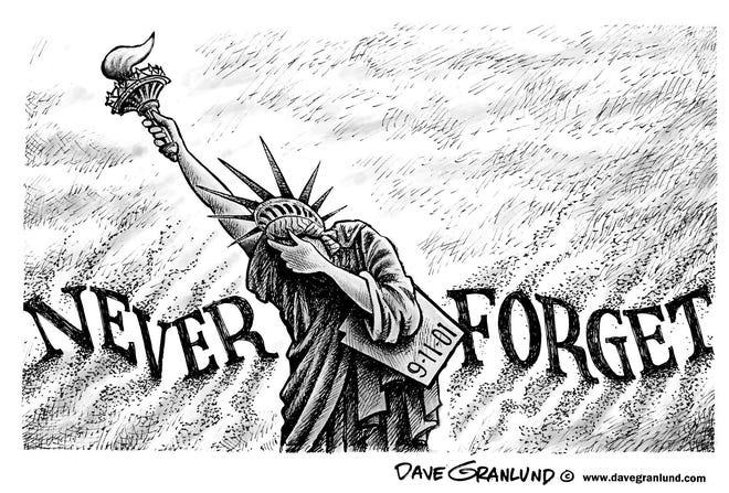 Dave Granlund cartoon commemorating September 11.