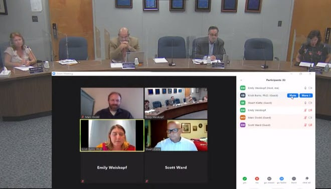 A screenshot from the special board meeting in which the Lake County School Board approved its final millage rates and budget. [Lake County Schools/Youtube]