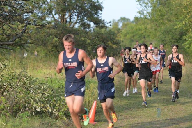 ADM boys cross country run on Monday, Sept. 14 in Huxley.