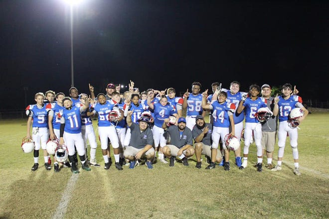 The 2019 Mt. Pleasant Middle School Football team were conference champions.