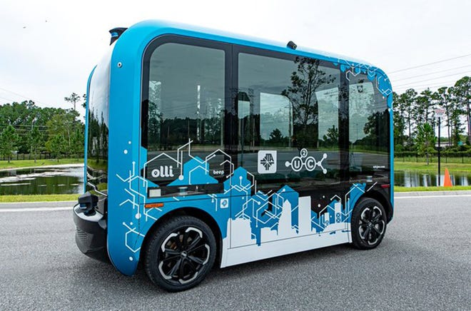 The JTA's new Olli 2.0 autonomous electric vehicle.