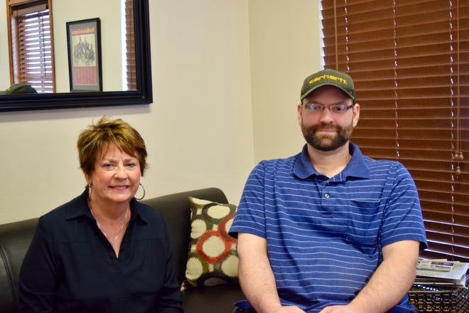 Louisiana State Rep. Kathy Edmonston helped Derek Storms get the paperwork processed to get hardware for his car.