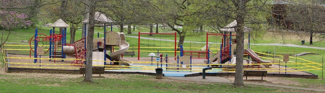 The city of Oak Ridge has closed playgrounds such as this one to the public at present but is looking at reopening them.