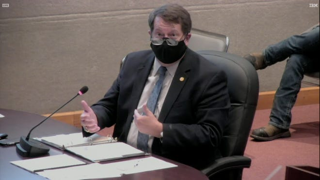 City Manager Mark Watson, shown here at a City Council meeting wearing a mask, is in charge of running the various city of Oak Ridge departments.