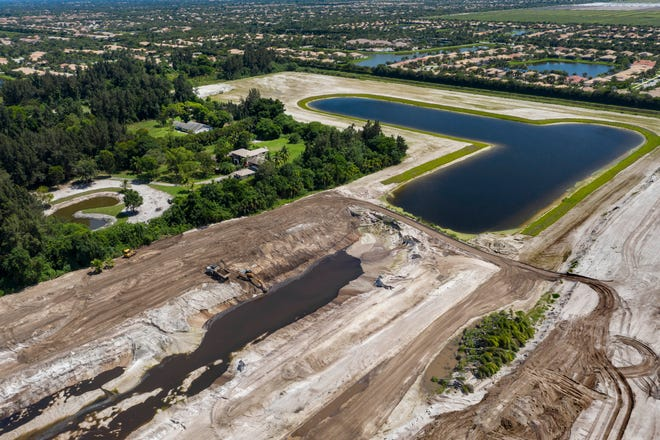 A Canadian business executive paid $15.5 million for 156 acres of land west of Boynton Beach, Florida. He has been building a lake without permits since February. (GREG LOVETT/The Palm Beach Post)