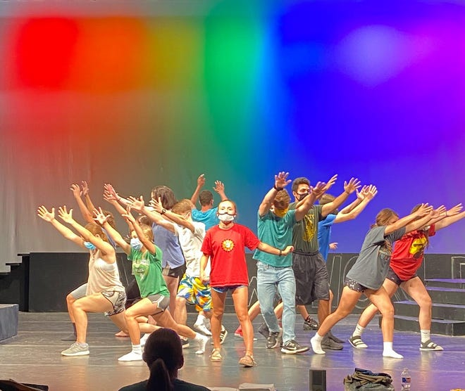 """Tess Clarkson, and fellow Pratt High School students poured their hearts, souls and energy into performances of """"Songs for a New World"""" this past weekend in Pratt."""