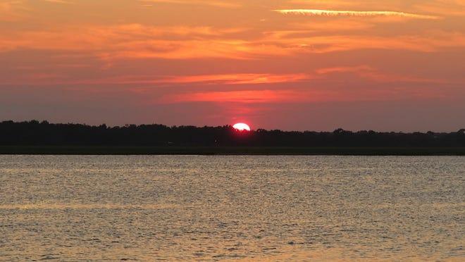 Sunset on the Tolomato River aka The Intracoastal Waterway.