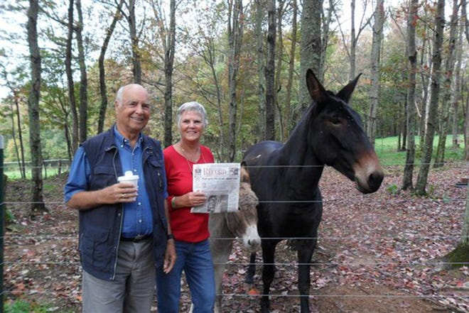 Outdoors in NC -- Eline and Hans Breukhoven visited their friend Elaine Little and her animals in the Meadows of Dan along the Blue Ridge Parkway.