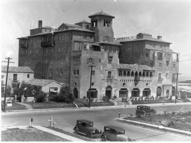 Owen Burns' El Vernona Hotel and office building on Broadway Ave. (Today's Tamiami Trail) was Sarasota's largest and most luxurious. Later acquired by John Ringling and re-named the John Ringling Hotel, it was demolished despite protestations to save it in 1998.